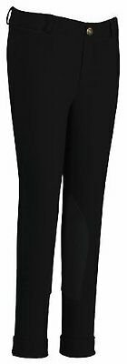 TuffRider Girl's Starter Lowrise Pull-On Jods Breech, Black, 10