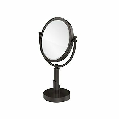 Allied Brass TR-4/2X-ORB Table Mirror with 2X Magnification, Oil Rubbed Bro