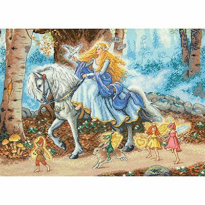 Dimensions 18 Count Gold Collection Fairytale Counted Cross Stitch Kit, 15