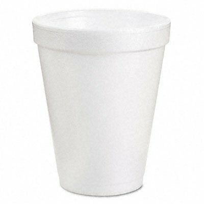 Dart® Drink Foam Cups, Eight Ounces, White, 40 Bags of 25 Per Carton