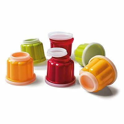 Kaiser Patisserie, Pudding Cups with 2 Lids, Accessories, 6 Pieces, Plastic
