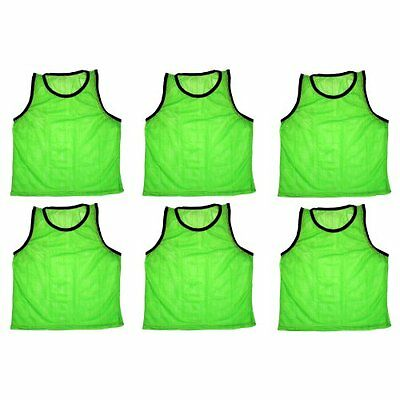 BlueDot Trading Sports Pinnies 6 High Quality Scrimmage Training Vests, Gre