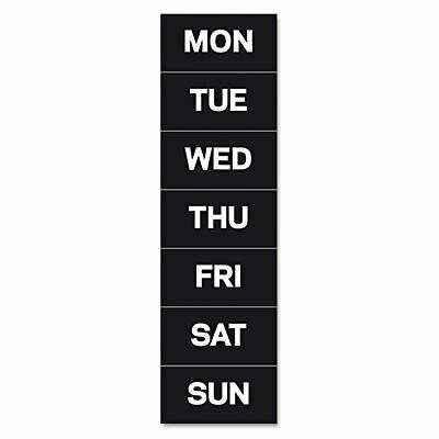 MasterVisionTM FM1007 - CALENDAR MAGNETIC TAPE, DAYS OF THE WEEK, BLACK/WHI