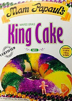 Mam Papaul's Famous New Orleans Mardi Gras King Cake Mix with Praline Filli