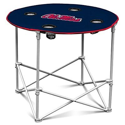 NCAA Ole Miss Rebels Round Tailgating Table