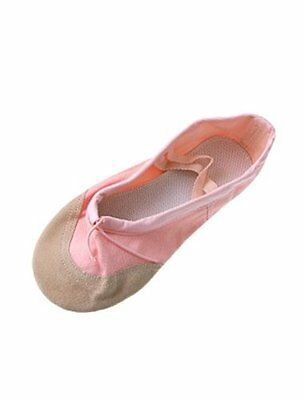 uxcell Dancing Ballet Girls Pink Soft Canvas Shoes US Size 1