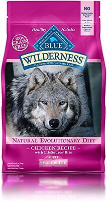 Blue Buffalo Small Breed Wilderness Chicken Adult Dry Dog Food, 4.5-Pound
