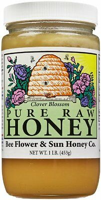 Bee And Flower Clover Blossom Honey, 1 lb