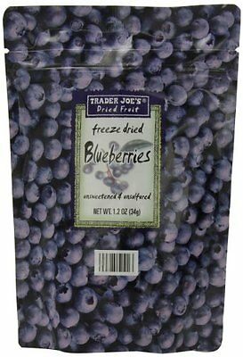 Trader Joe's Freeze Dried Blueberries Unsweetened & Unsulfured 1.2oz