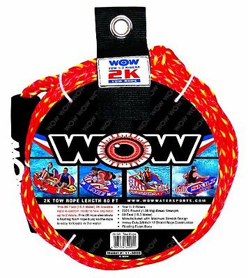 WOW Sports 2K Tow Rope, 60-Feet