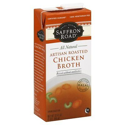 Saffron Road Artisan Roasted Chicken Broth, 32 Fluid Ounce -- 12 per case.