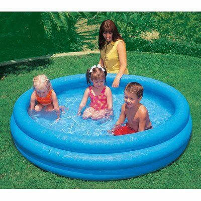 """INTEX Crystal Blue Kids Outdoor Inflatable 66"""" Swimming Pool 