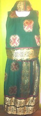 Women's Cultural Festive Multicolor 3 Piece  Free Size Skirt Set By Tropical
