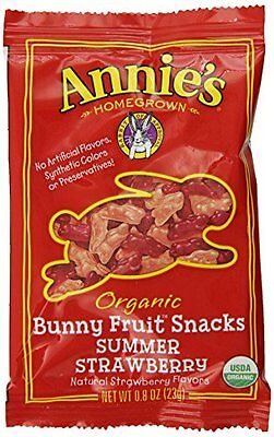 Annie's Summer Strawberry Organic Fruit Snacks, 0.8 Ounce Pouches, 18-Count