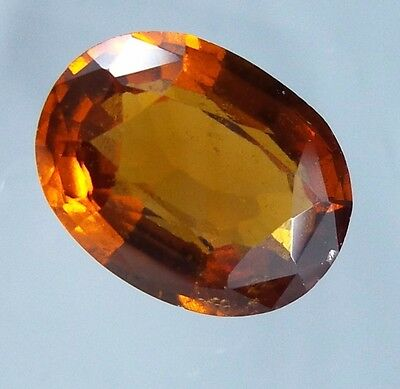 3.5 Cts. UNIQUE! Natural Reddish Orange Hessonite Garnet 10.8x8.3 MM Oval Cut.