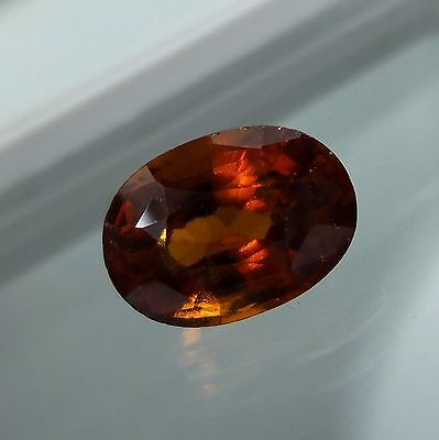 3.8 Cts. Natural Untreated Reddish Orange Hessonite Garnet 10.6x7.5 MM Oval Cut