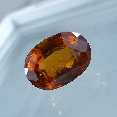 3.4 Cts. Natural Untreated Reddish Orange Hessonite Garnet 10x7.3 MM Oval Cut.