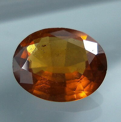 3 Cts. Natural Untreated Reddish Orange Hessonite Garnet 10.8x8.8 MM Oval Cut.