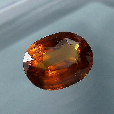 3.4 Cts. Natural Untreated Reddish Orange Hessonite Garnet 10.2x7.8 MM Oval Cut