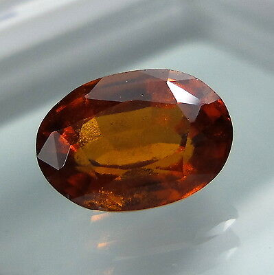 3.2 Cts. Natural Untreated Reddish Orange Hessonite Garnet 10.4x7.4 MM Oval Cut.