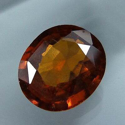 3.6 Cts. Natural Untreated Reddish Orange Hessonite Garnet 10.6x9.2 MM Oval Cut.