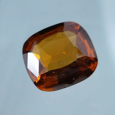 3.4 Cts. Natural Untreated Reddish Orange Hessonite Garnet 10x9 MM Cushion Cut.