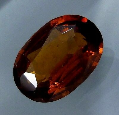 3.4 Cts. FANTASTIC! Natural Reddish Orange Hessonite Garnet 11.4x8 MM Oval Cut