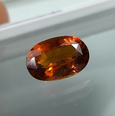 3.2 Cts. Natural Untreated Reddish Orange Hessonite Garnet 10.7x7.2 MM Oval Cut