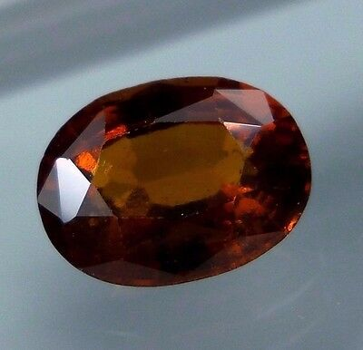3.5 Cts. RARE! Natural Reddish Orange Hessonite Garnet 10.2x7.1 MM Oval Cut