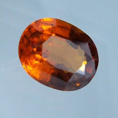 4.1 Cts. Natural Untreated Reddish Orange Hessonite Garnet 10.9x8.5 MM Oval Cut.