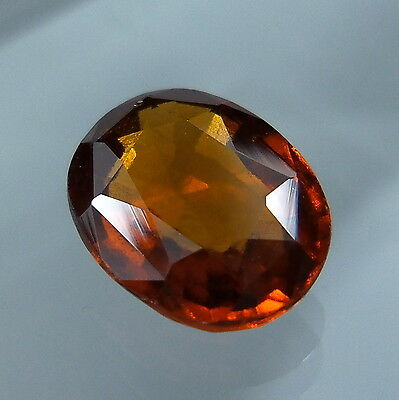 3.4 Cts. Natural Untreated Reddish Orange Hessonite Garnet 10.7x8.5 MM Oval Cut.