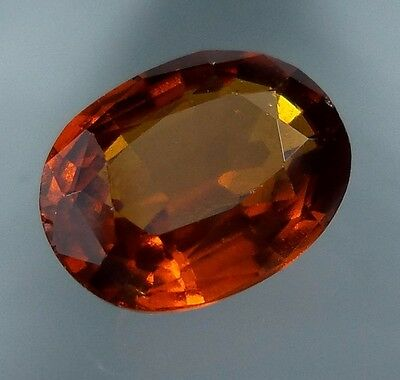 3.4 Cts. FANTASTIC! Natural Reddish Orange Hessonite Garnet 10.4x8 MM Oval Cut