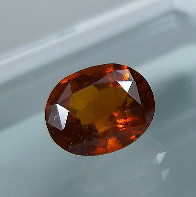 3.2 Cts. Natural Untreated Reddish Orange Hessonite Garnet 9.6x8.1 MM Oval Cut