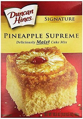 Duncan Hines Signature Pineapple Supreme Cake Mix 18.25 oz