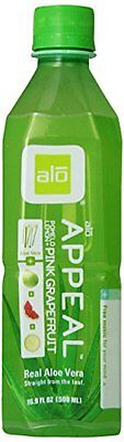 ALO Appeal Aloe Vera Beverage, Pomelo Grapefruit & Lemon, 16.9 Ounce (Pack