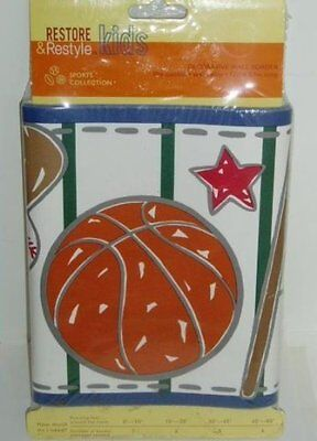 Sports Collection ALL STARS Wall paper Border 15 Ft Decorative Pre-Pasted T
