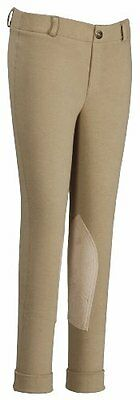 TuffRider Girl's Starter Lowrise Pull-On Jods Breech, Sand, 14
