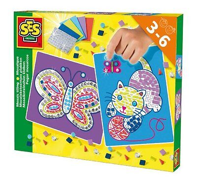 SES Creative Mosaic Tiling Cat and Butterfly Art Set