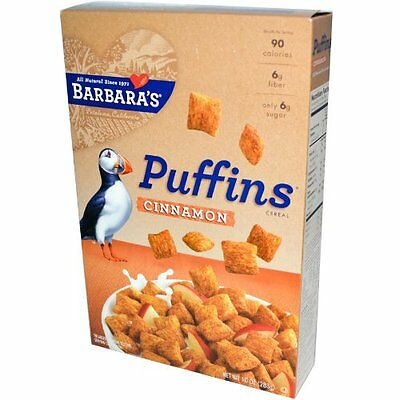 Barbara's Bakery Puffins Cereal, Cinnamon, 10-Ounce.(pack of 12)