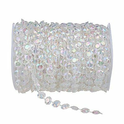99 ft Clear Crystal Like Beads by the roll - Wedding Decorations - 1Roll