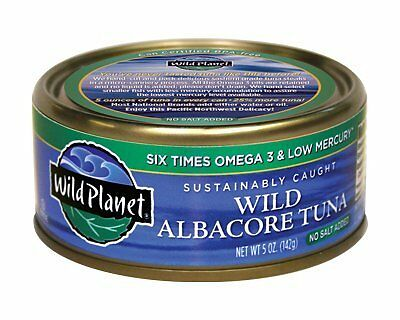 Wild Planet No Salt Added Wild Albacore Tuna - Pouch Pack, 3 Ounce -- 12 pe