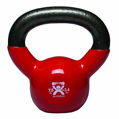 Cando 10-3192 Red Kettle Bell, 7.5 lbs Weight