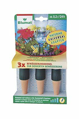 Blumat 23308 Bottle Adapter for Automatic Plant Watering, 3-Pack