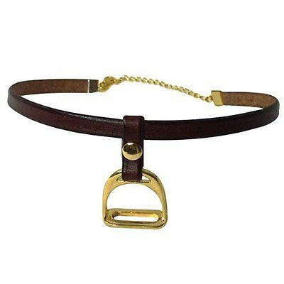 Exselle Stirrup Gold Plate Choker Necklace