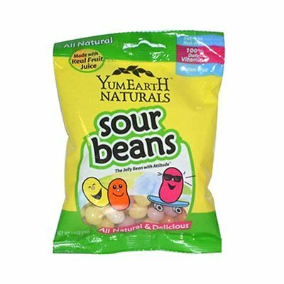 Yummy Earth Naturals Sour Beans, 2.5 Ounce