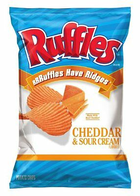 Ruffles Potato Chips, Cheddar and Sour Cream, 8.5 Ounce