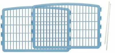 IRIS 2-Piece Add-on kit for 4-Panel Indoor/Outdoor Pet Pen for Dogs, Blue
