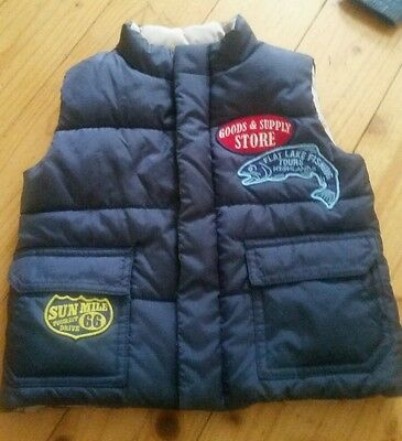 Country Road Boy Puffa Vest size 2
