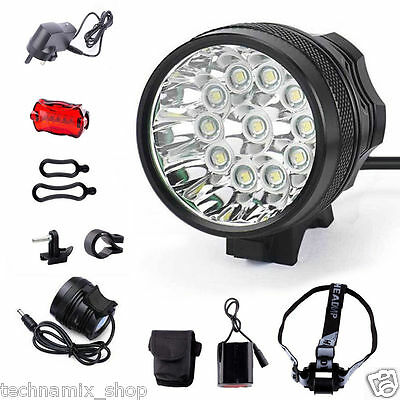 Super Bright 35000LM CREE 11x T6 LED Mountain Bike Light Cycling Bicycle Light