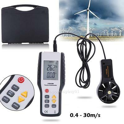 Digital CFM/CMM Anemometer Thermometer Air Velocity Flow Temperature 30m/s